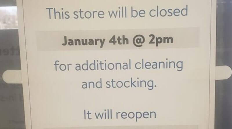 New Albany Walmart to Close for Two Days